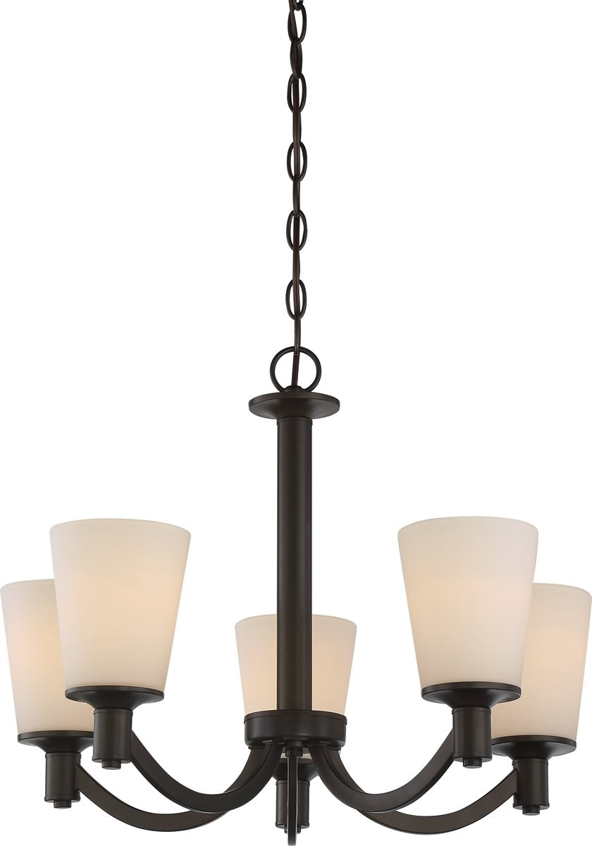"23""W Laguna 5-Light Chandelier Forest Bronze"