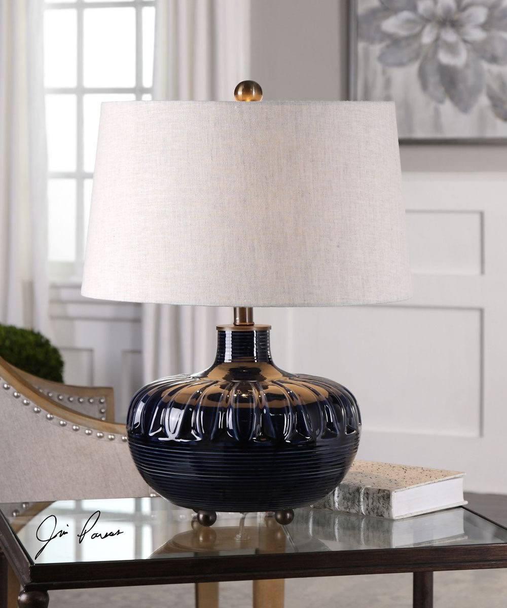 "23""H Levane Midnight Blue Table Lamp"