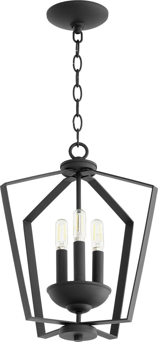 "13""W 3-light Entry Foyer Hall Chandelier Noir"
