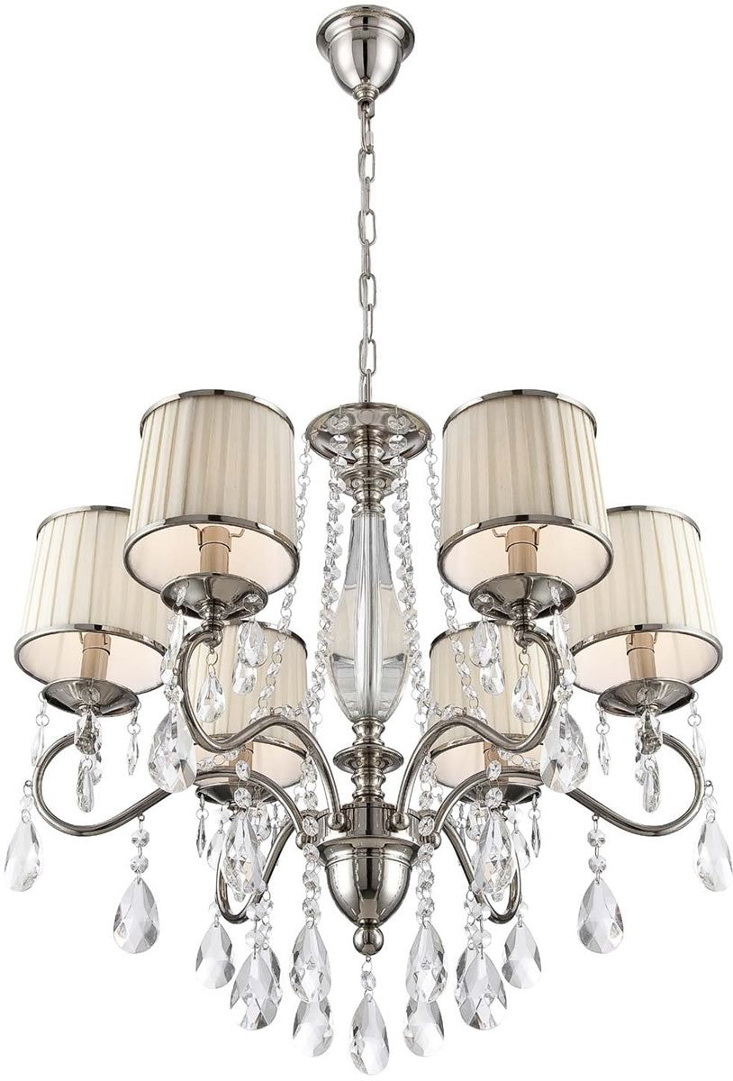 "29""W Valentine 6-Light Chandelier Chrome"