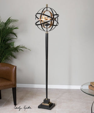 "75""H Rondure Sphere Floor Lamp"