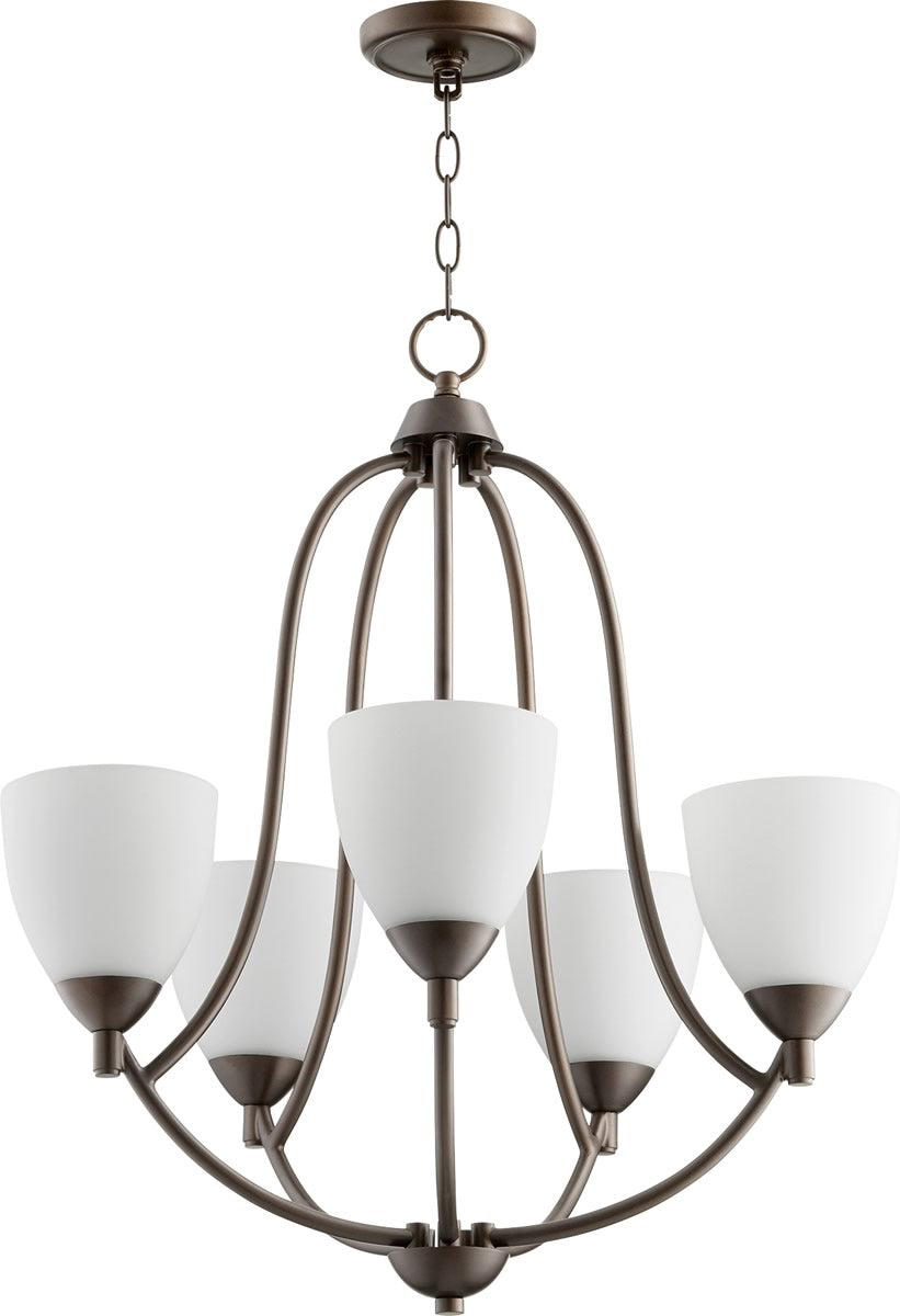 "24""W Barkley 5-light Chandelier Oiled Bronze"