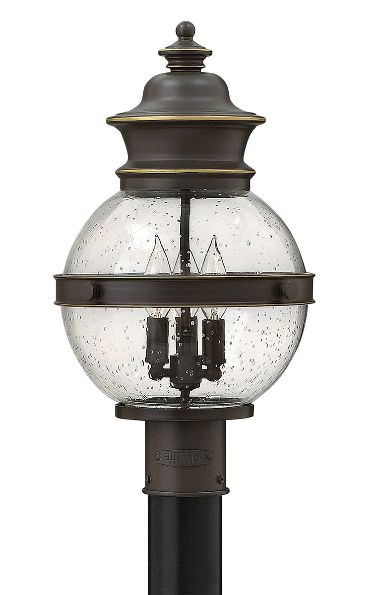 Saybrook 3-Light Outdoor Pier Post Light in Oil Rubbed Bronze