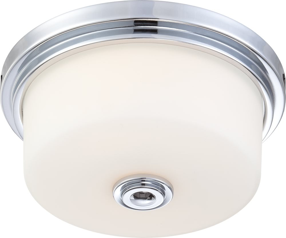 "15""W Soho 2-Light Close-to-Ceiling Polished Chrome"