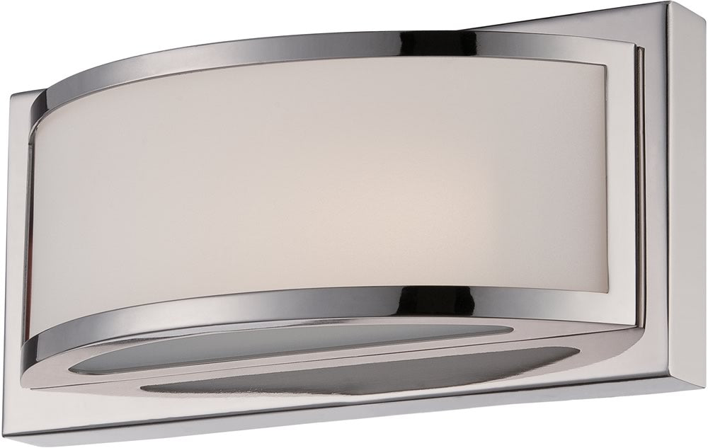 "10""W Mercer 1-Light Vanity & Wall Polished Nickel"