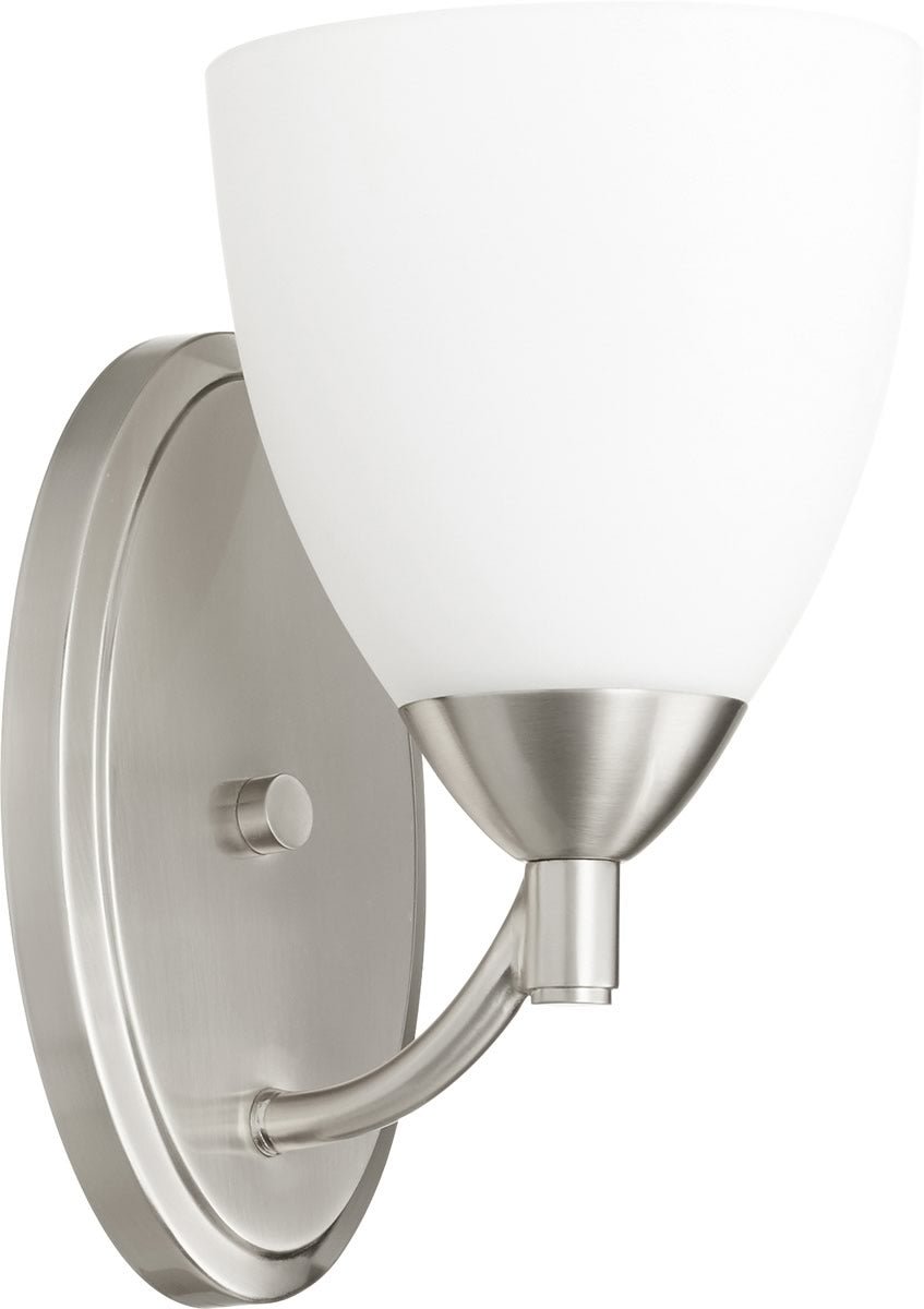 "6""W Barkley 1-light Wall Mount Light Fixture Satin Nickel"