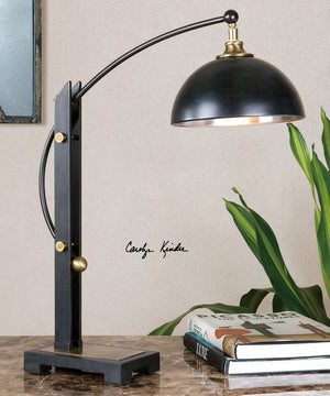 "27""H Malcolm Oil Rubbed Bronze Desk Lamp"