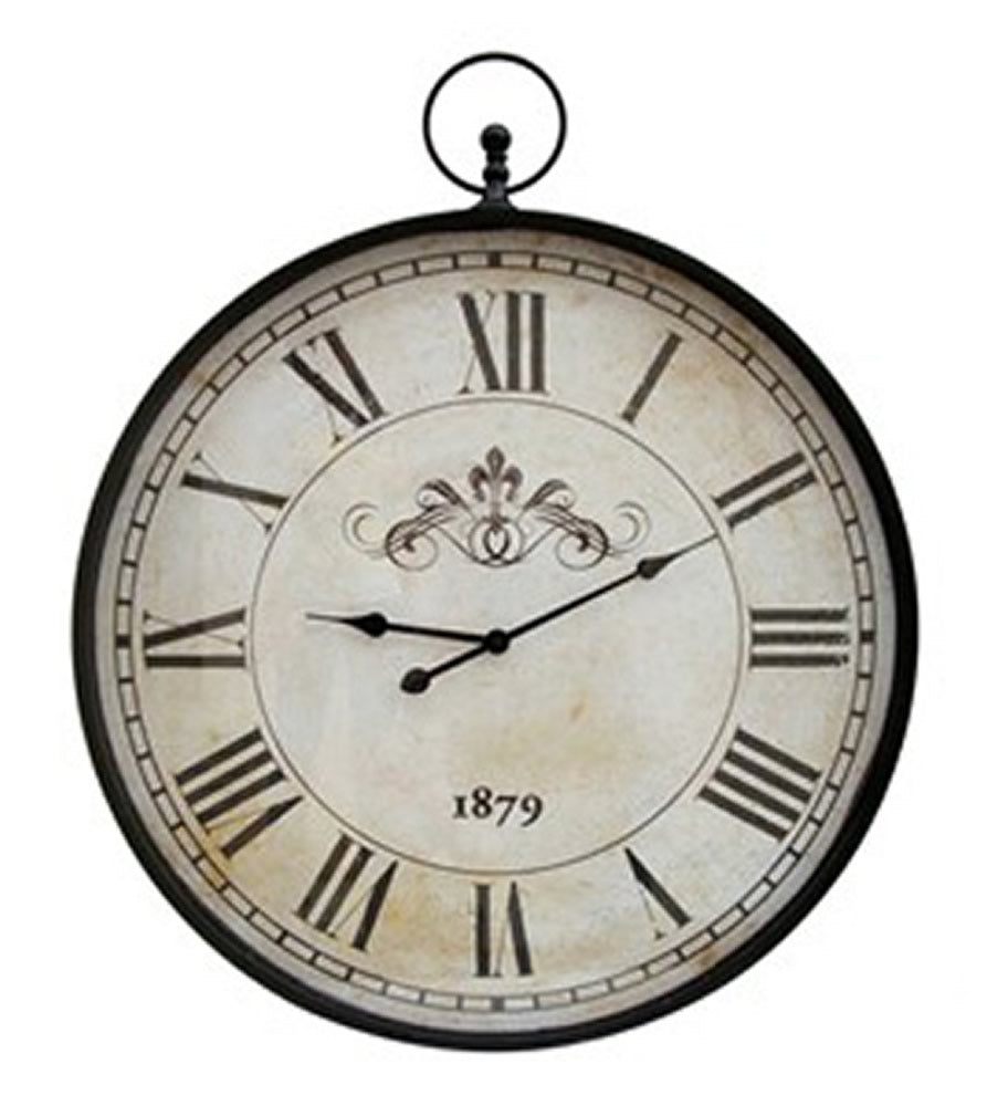 "37""H Augustina Wall Clock Antique Black"