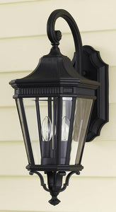 0-008697>21 inchh Cotswold Lane Outdoor Lantern Black
