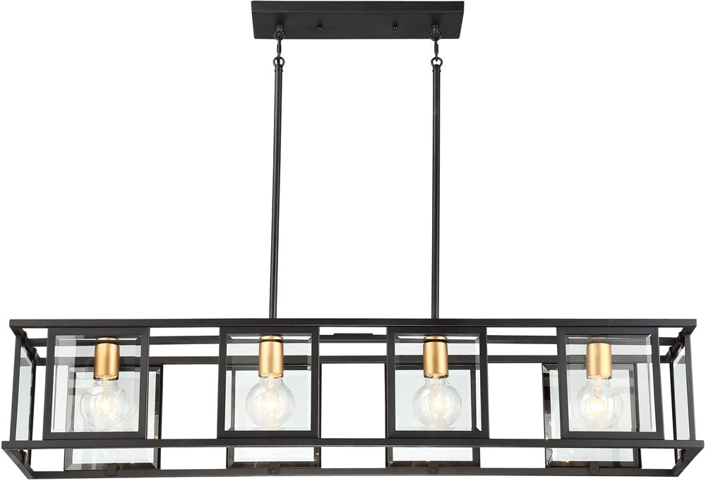 "42""W Payne 4-Light Pendant Midnight Bronze"