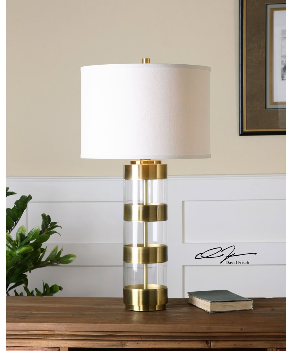 "31""H Angora Brushed Brass Table Lamp"