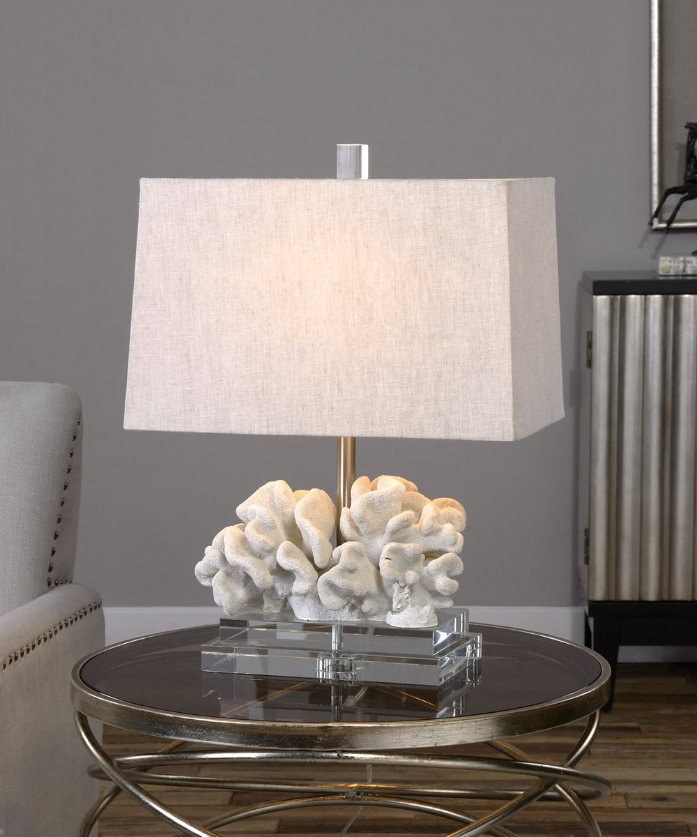 "22""H Coral Sculpture Table Lamp"