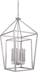 0-002975>Hudson 6-Light Foyer Light Polished Nickel