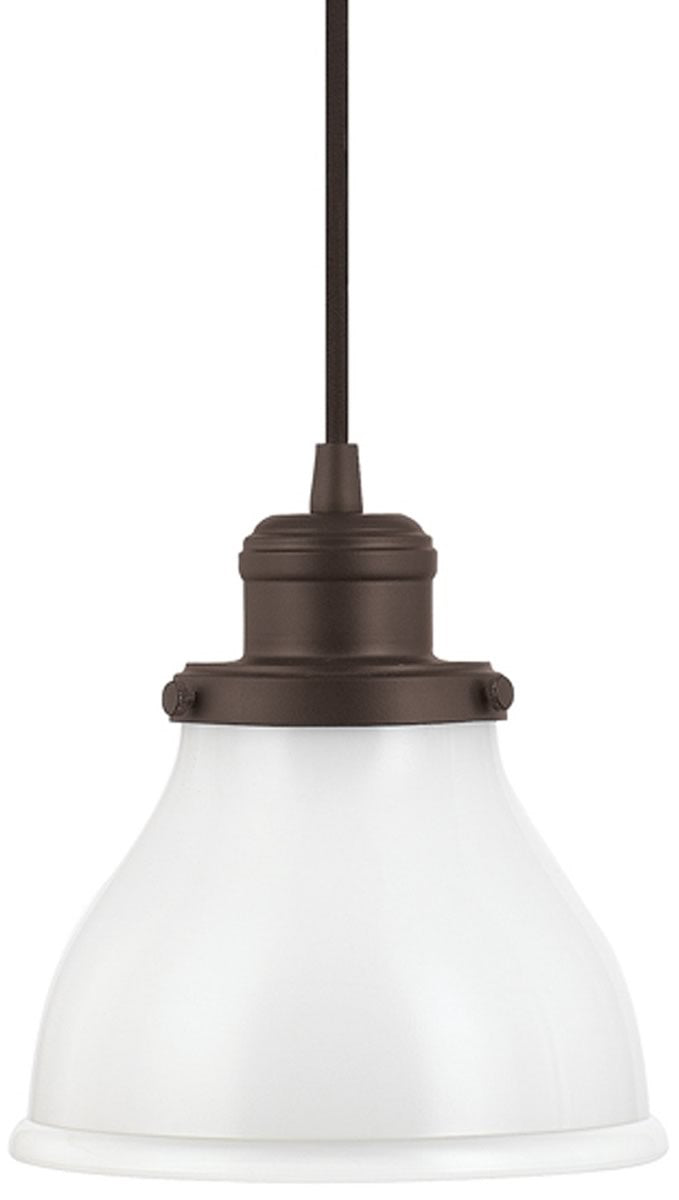 "7""W Baxter 1-Light Mini-Pendant Burnished Bronze"