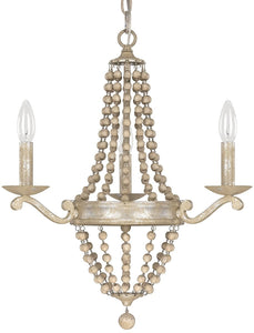Capital Lighting Adele 3-Light Chandelier Silver Quartz 4443SQ000