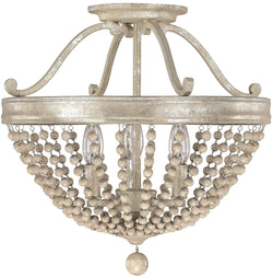 Adele 3-Light Semi-Flush Silver Quartz