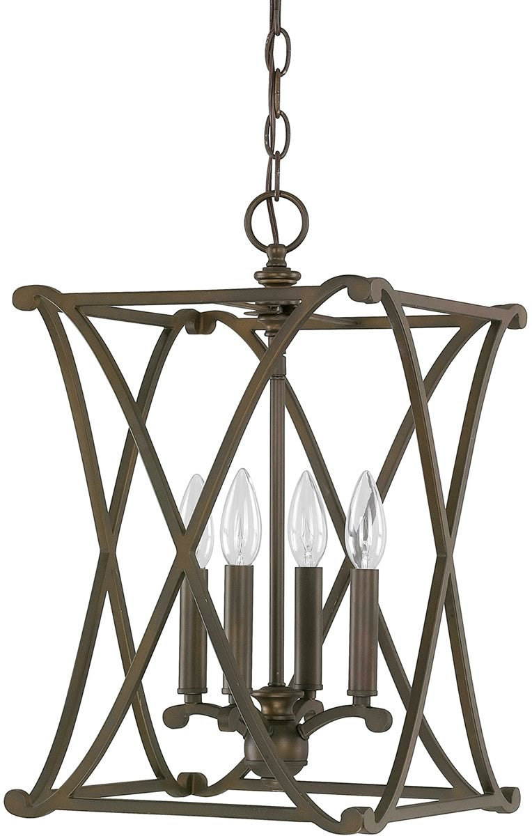 Alexander 4-Light Foyer Fixture Burnished Bronze