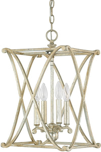 Capital Lighting Alexander 4-Light Foyer Fixture Winter Gold 9691WG