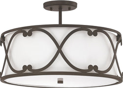Capital Lighting Alexander 3-Light Semi Flush Burnished Bronze 4743BB610