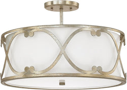 Capital Lighting Alexander 3-Light Semi Flush Winter Gold 4743WG610
