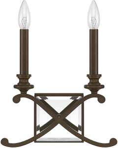 Capital Lighting Alexander 2-Light Sconce Burnished Bronze 8062BB