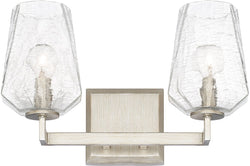 Arden 2-Light Vanity Brushed Silver