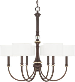 Asher 6-Light Chandelier Champagne Bronze