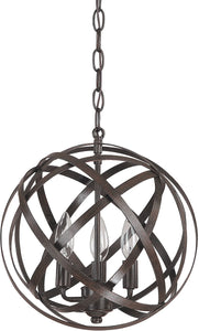 Capital Lighting Axis 3-Light Pendant Russet 4233RS