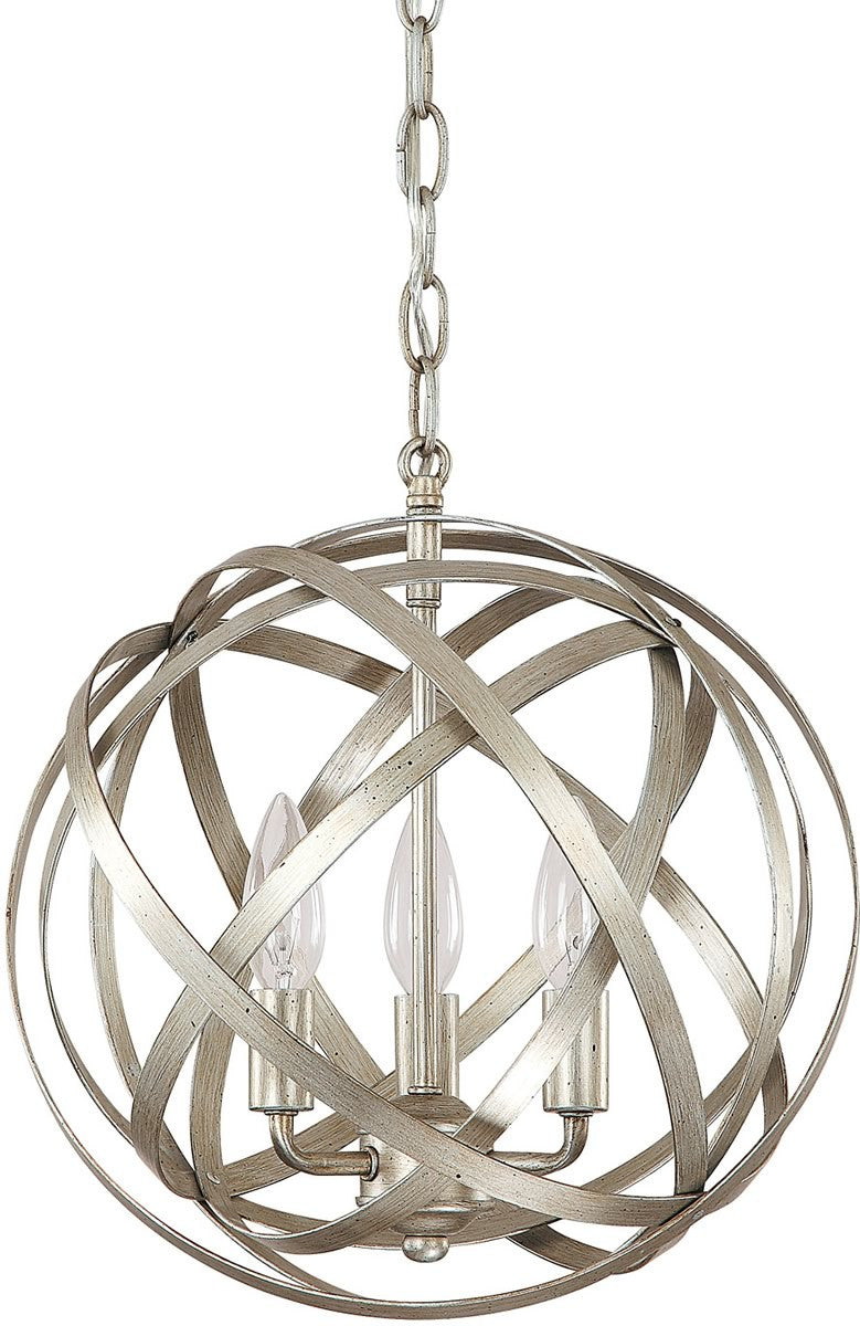 "13""W Axis 3-Light Pendant Winter Gold"