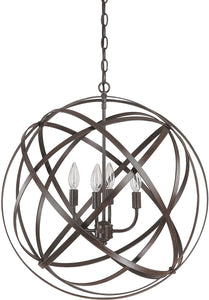 Capital Lighting Axis 4-Light Pendant Russet 4234RS