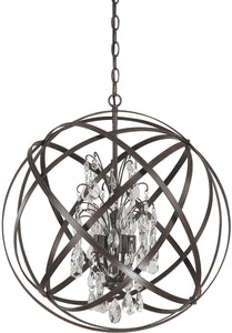 Capital Lighting Axis 4-Light Pendant Russet 4234RSCR