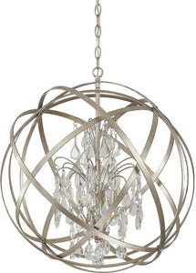 Capital Lighting Axis 4-Light Pendant Winter Gold 4234WGCR