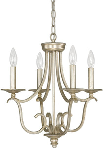 Capital Lighting Bailey 4-Light Mini Chandelier Winter Gold 4724WG000