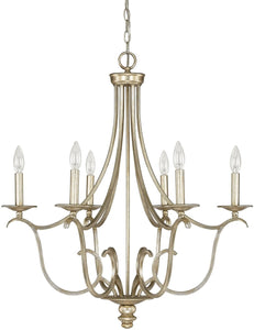 Bailey 6-Light Chandelier Winter Gold