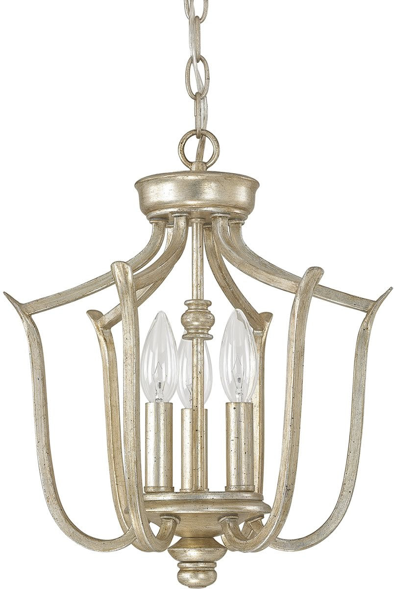 Bailey 3-Light Foyer Fixture Winter Gold