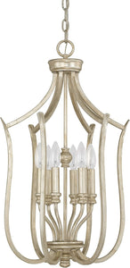 Bailey 6-Light Foyer Fixture Winter Gold