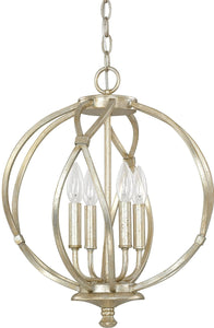 Capital Lighting Bailey 4-Light Pendant Winter Gold 4723WG