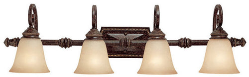 Capital Lighting Barclay 4-Light Vanity Chesterfield Brown 1524CB287