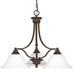 Capital Lighting Belmont 3-Light Chandelier Burnished Bronze 3413BB237