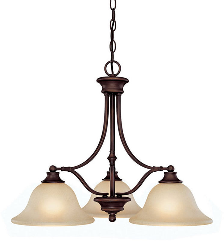 "26""w Belmont 3-Light Island fixture Burnished Bronze"