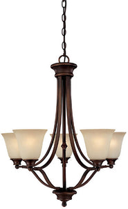 "26""w Belmont 5-Light Chandelier Burnished Bronze"