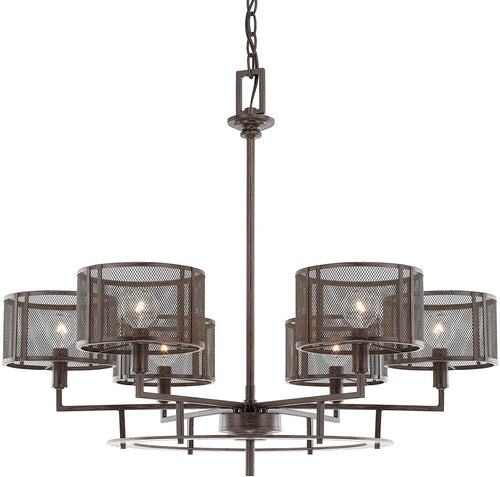 Capital Lighting Bennett 6-Light Chandelier Russet 411161RS653