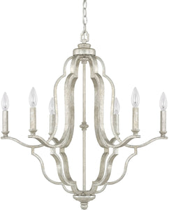 Blair 6-Light Chandelier Antique Silver