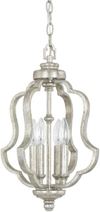 Capital Lighting Blair 4-Light Foyer Fixture Antique Silver 9894AS
