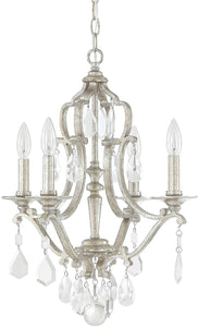 Capital Lighting Blakely 4-Light Mini Chandelier Antique Silver 4184ASCR