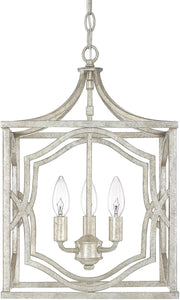 Capital Lighting Blakely 3-Light Foyer Fixture Antique Silver 9481AS