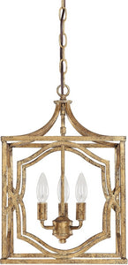 Capital Lighting Blakely 3-Light Foyer Chandelier Antique Gold 9481AG