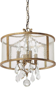 Capital Lighting Blakely 4-Light Pendant Antique Gold 9484AGCR