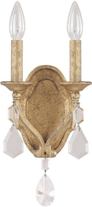 Blakely 2-Light Sconce  With Crystals Included Antique Gold
