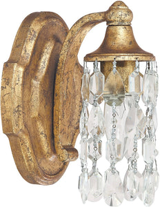 Capital Lighting Blakely 1-Light Sconce Antique Gold 8521AGCR